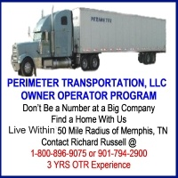 Become An Owner Operator at Perimeter Transportation Memphis, TN